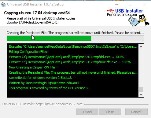 Linux en USB