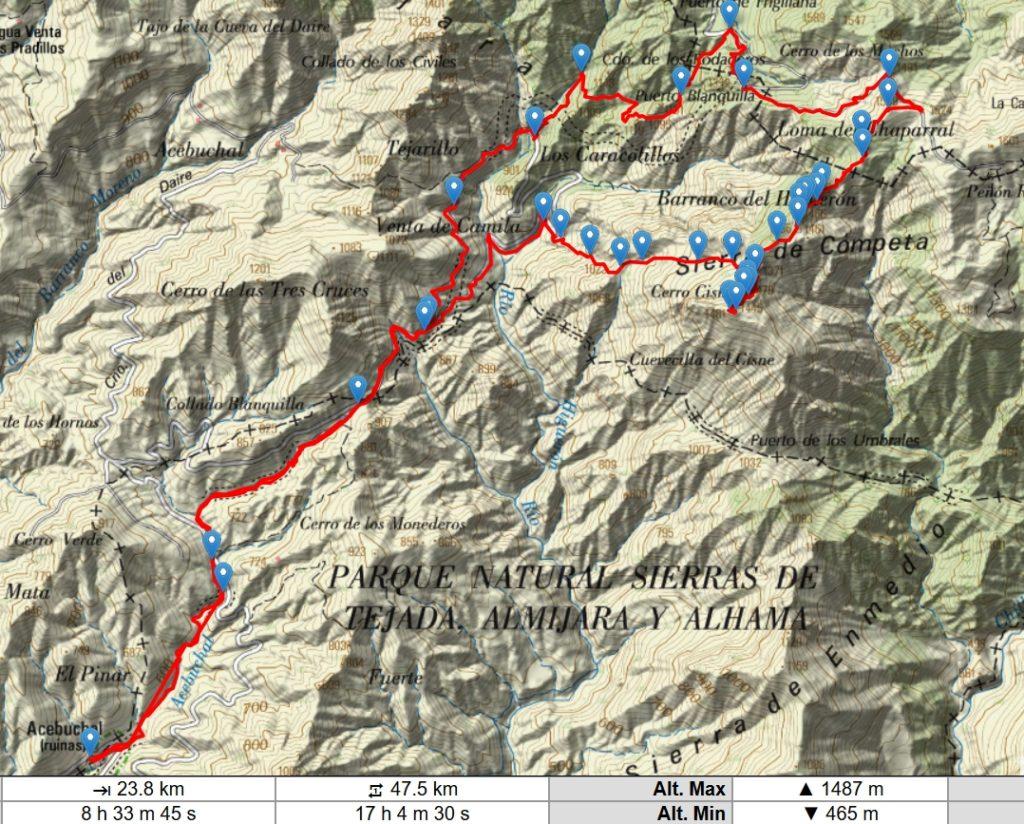 Pico Cisne y Altos del Higuerón