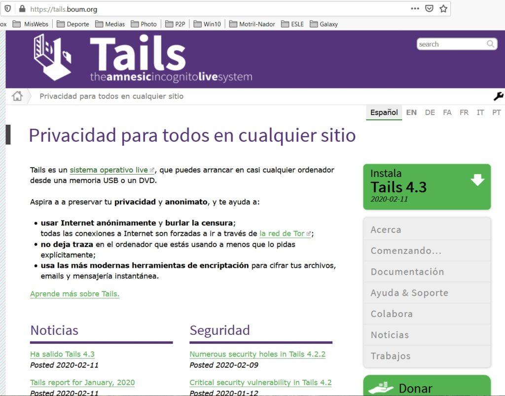 TAILS LIVE SYSTEM Página oficial Tails