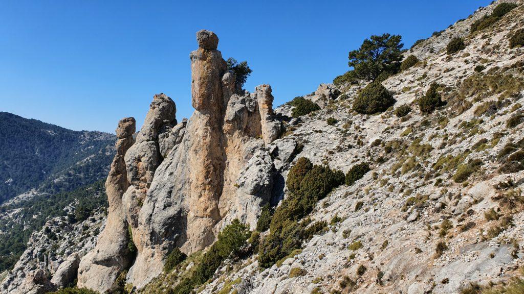 Sierra Mágina. Mirador de las Chimeneas de las Hadas