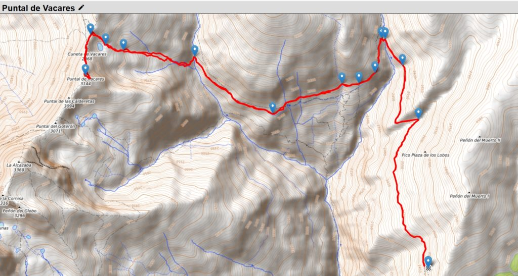 Ruta Puntal de Vacares desde Acequia de Bérchules
