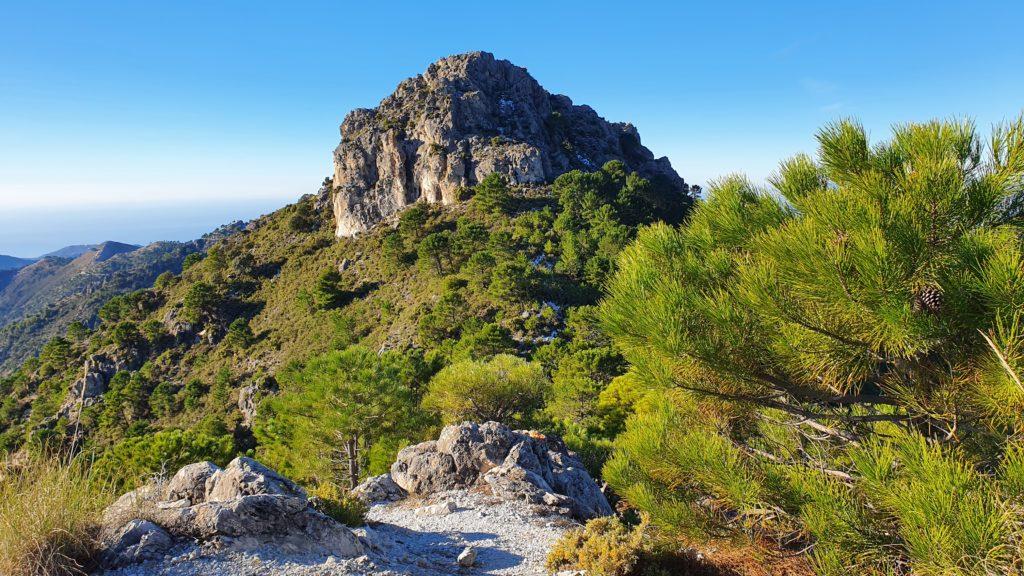 Vista atrás hacia el Cerro de la Atalaya