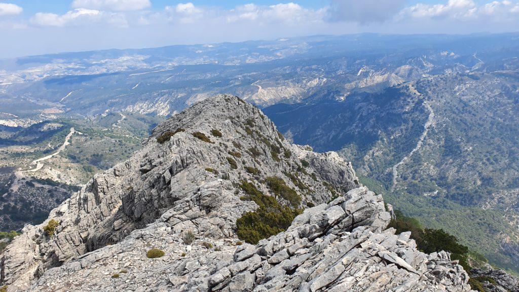 Vista atrás desde la zona alta de la Arista Nordeste