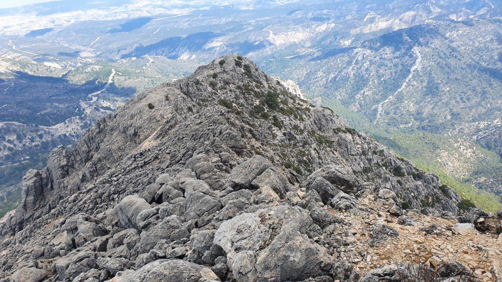 Arista Nordeste del Lucero. Vista desde la cima del Lucero